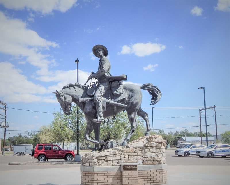 "Pat Garrett 1850-1908 ""Ride to Destiny"" – Roswell Pioneer Plaza, Roswell, New Mexico"