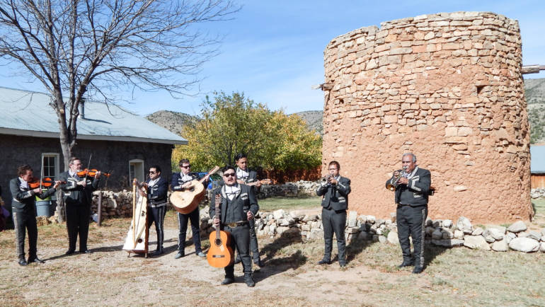 Mariachi Band at Torreon (Defensive Tower) – Lincoln, New Mexico